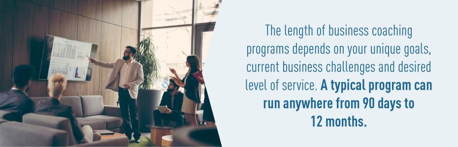 Business coaching program lengths